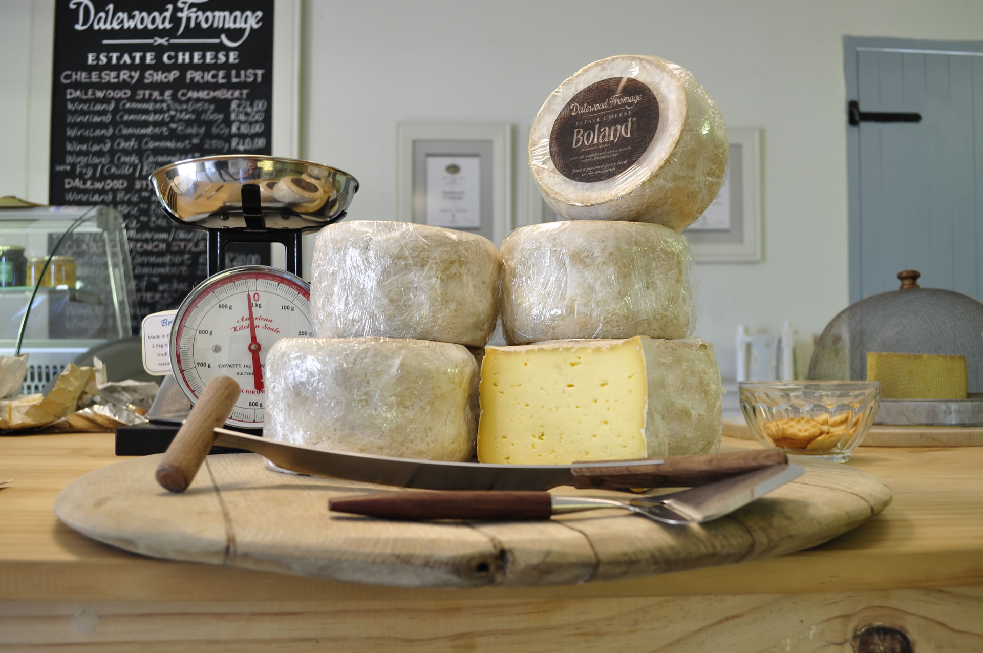 Dalewood Fromage artisanal cheesery shop in the Cape Winelands