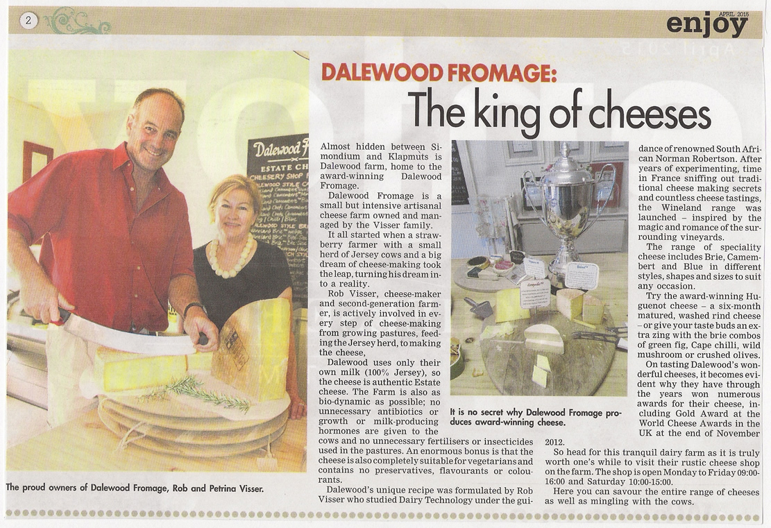 Dalewood Fromage in Paarl Post