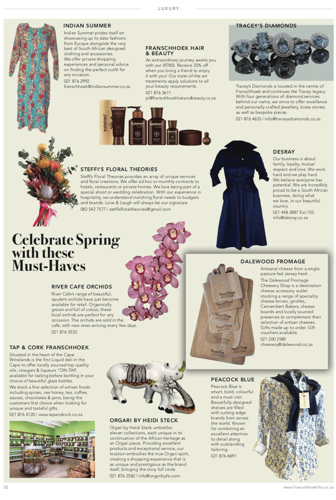 Franschhoek Life-Spring Celebration page September 2018